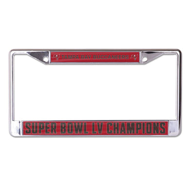 Tampa Bay Buccaneers Super Bowl LV Champions Metal Laser Cut License Plate Frame