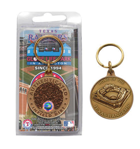 texas rangers infield dirt key chain