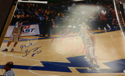 Mike Gansey Kevin Pittsnogle & Patrick Beilein West Virginia Mountaineers Triple Signed 16x20 Photo JSA