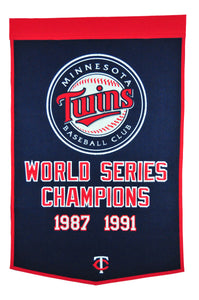 minnesota twins world series champions wool dynasty banners