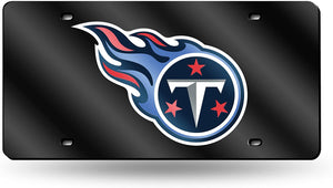 Tennessee Titans Black Chrome Laser Tag License Plate