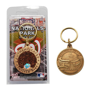 washington nationals, nationals park infield dirt key chain