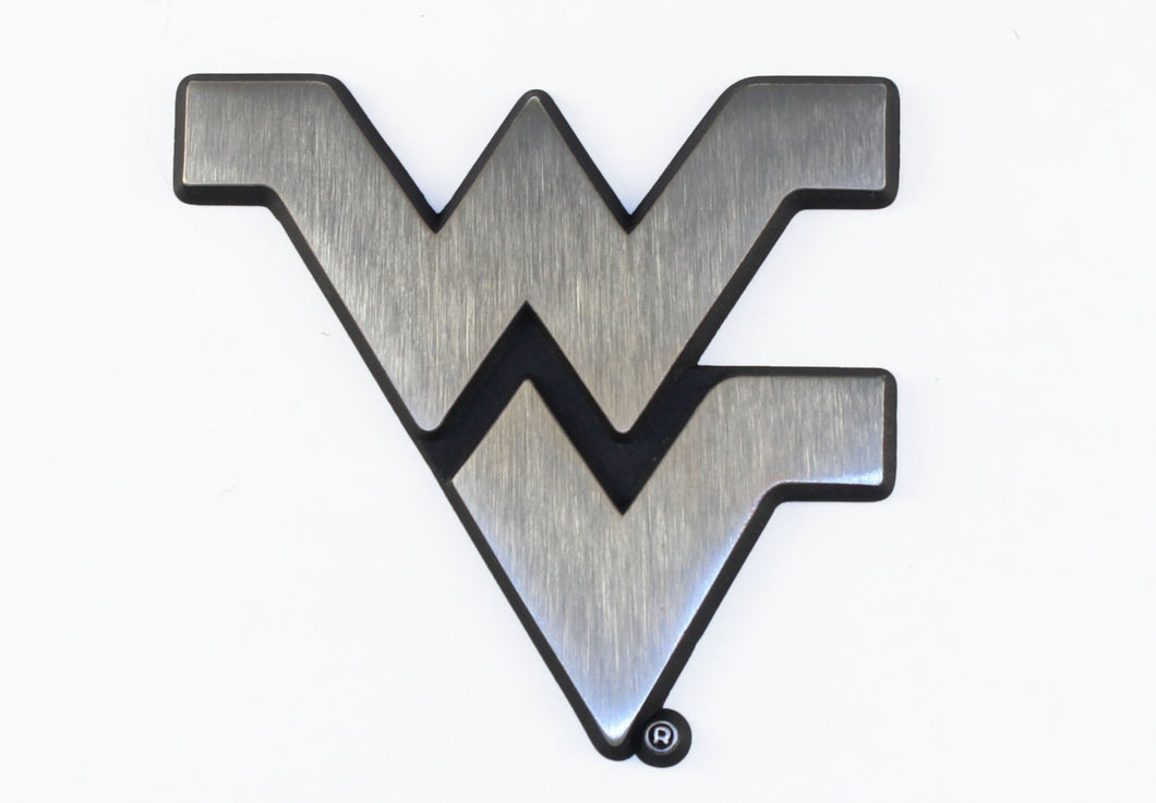 West Virginia Mountaineers Stainless Steel Auto Emblem