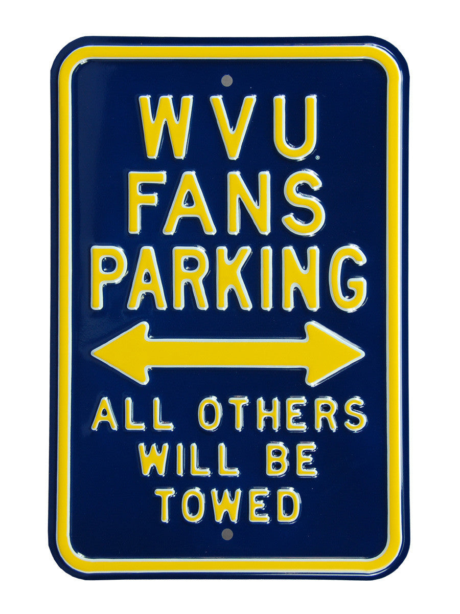 West Virginia Mountaineers Steel Parking Signing