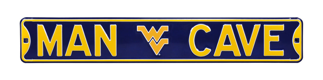 West Virginia Mountaineers Steel Man Cave Street Sign