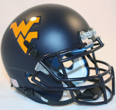 wvu football, wvu mini football helmet