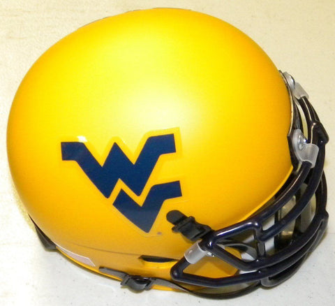 West Virginia Mountaineers Matte Gold Mini Football Helmet