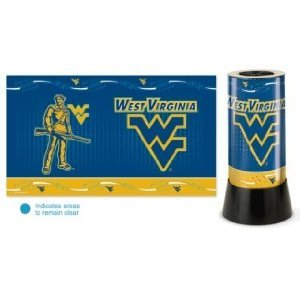 wvu football, wvu basketball, wvu rotating desk lamp