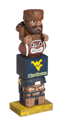 wvu football, wvu tiki totem, mountaineer tiki totem