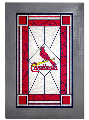 St. Louis Cardinals Stained Glass Wood Sign