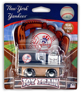 new york yankees wood toy train