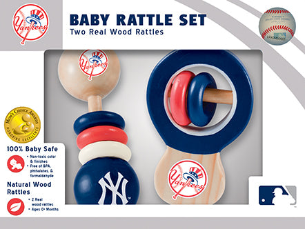 new york yankees baby rattle set, new york yankees baby toy