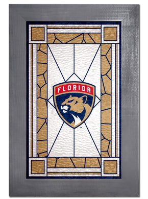 Florida Panthers Stained Glass Wood Sign