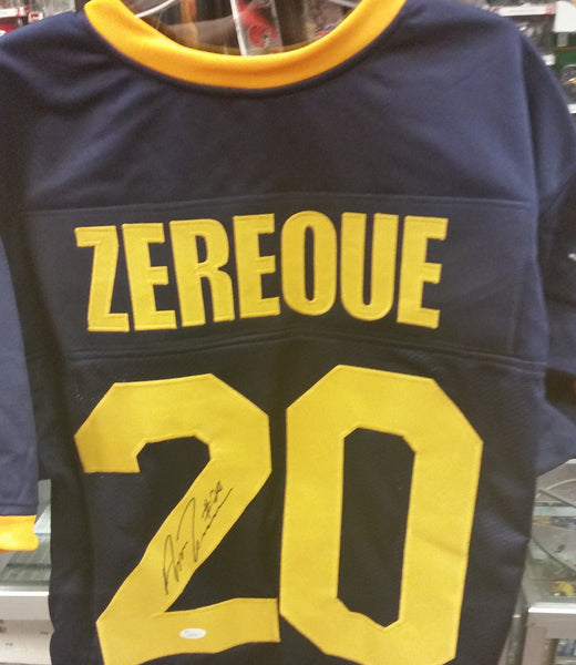 Amos Zereoue West Virginia Mountaineers #20 Signed Jersey JSA