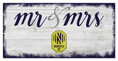 Nashville SC Mr. & Mrs. Script Wood Sign - 6