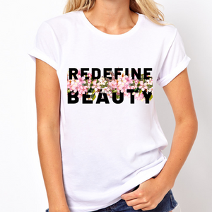 Body Positive Redefine Beauty - Feminist T Shirt-Feminist Apparel, Feminist Clothing, Feminist T Shirt-The Spark Company-The Spark Company