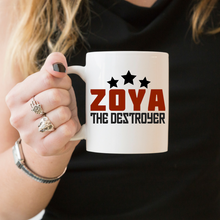 Load image into Gallery viewer, Glow Zoya The Destroyer - Feminist Mug, Feminist Gift-Feminist Apparel, Feminist Gift, Feminist Coffee Mug-The Spark Company-The Spark Company