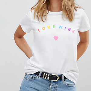 Love Wins Pastel Heart - LGBT Pride T-Shirt