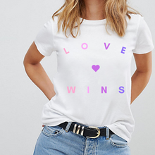 Load image into Gallery viewer, Love Wins Bisexual Colours - LGBT Pride T-Shirt