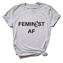 Load image into Gallery viewer, Feminist AF Rose - Feminist T Shirt