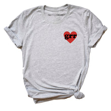 Load image into Gallery viewer, Embroidered Grr Heart Feminist T-Shirt