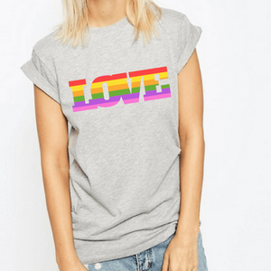 Love Pride Rainbow - LGBT T-Shirt-LGBT Apparel, LGBT Clothing, LGBT T Shirt-The Spark Company-The Spark Company