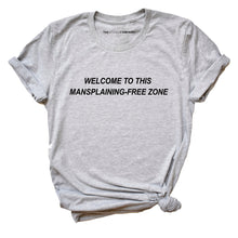Load image into Gallery viewer, Mansplaining-Free Zone - Feminist T-Shirt