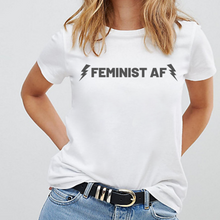 Load image into Gallery viewer, Feminist AF Lightning - Feminist T Shirt-Feminist Apparel, Feminist Clothing, Feminist T Shirt-The Spark Company-The Spark Company