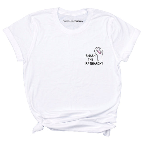 Embroidered Smash The Patriarchy - Feminist T-Shirt