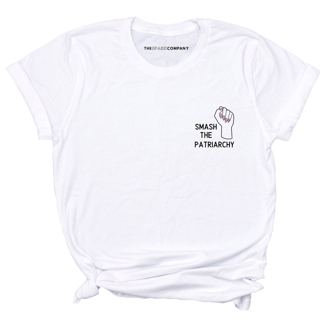 Embroidered Smash The Patriarchy Feminist T-Shirt