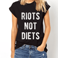 Load image into Gallery viewer, Riots Not Diets - Feminist Shirt-Feminist Apparel, Feminist Clothing, Feminist T Shirt-The Spark Company-The Spark Company