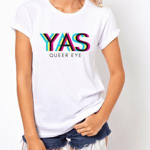 Queer Eye Yas Queen - LGBT T-Shirt-LGBT Apparel, LGBT Clothing, LGBT T Shirt-The Spark Company-The Spark Company