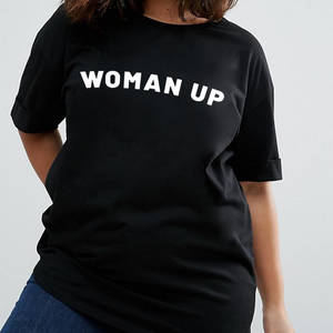 Woman Up - Feminist T Shirt-Feminist Apparel, Feminist Clothing, Feminist T Shirt-The Spark Company-The Spark Company
