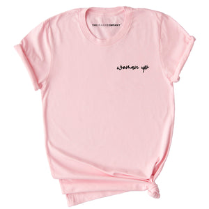 Embroidered Woman Up Feminist T-Shirt