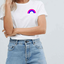 Load image into Gallery viewer, Bisexual Pride Rainbow - LGBT T-Shirt-LGBT Apparel, LGBT Clothing, LGBT T Shirt-The Spark Company-The Spark Company