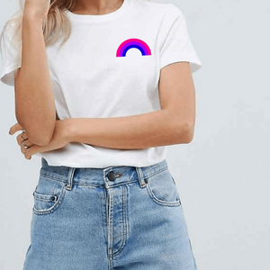 Bisexual Pride Rainbow - LGBT T-Shirt-LGBT Apparel, LGBT Clothing, LGBT T Shirt-The Spark Company-The Spark Company