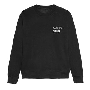 Embroidered Goal Digger Feminist Sweatshirt
