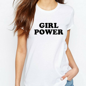 Girl Power Classic - Feminist T Shirt-Feminist Apparel, Feminist Clothing, Feminist T Shirt-The Spark Company-The Spark Company