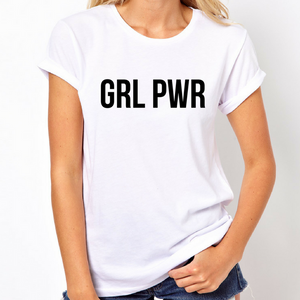 Girl Power GRL PWR - Feminist T Shirt-Feminist Apparel, Feminist Clothing, Feminist T Shirt-The Spark Company-The Spark Company