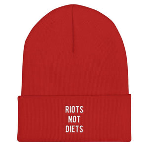 Riots Not Diets - Feminist Beanie Hat-Feminist Apparel, Feminist Gift, Feminist Beanie Hat-The Spark Company-The Spark Company