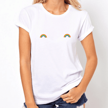 Load image into Gallery viewer, Pride Rainbow Nipple - LGBT T Shirt-LGBT Apparel, LGBT Clothing, LGBT T Shirt-The Spark Company-The Spark Company