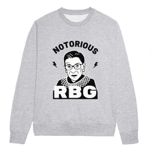 Load image into Gallery viewer, Notorious RBG Feminist Sweatshirt