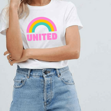 Load image into Gallery viewer, United Pride Rainbow - LGBT T-Shirt-LGBT Apparel, LGBT Clothing, LGBT T Shirt-The Spark Company-The Spark Company