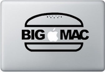 Sticker MacBook BIG MAC