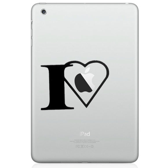 Sticker iPad I LOVE APPLE