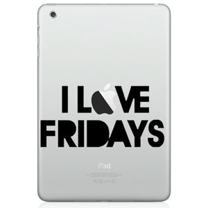 Sticker iPad I LOVE FRIDAYS