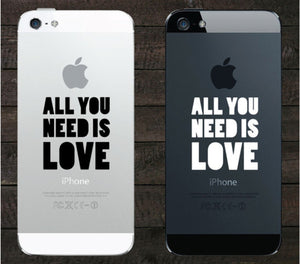 Sticker iPhone ALL YOU NEED IS LOVE
