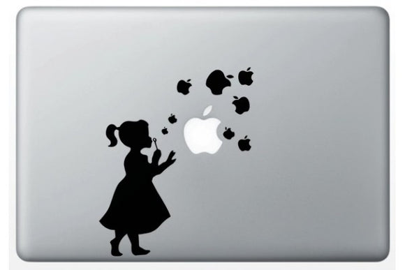 Sticker MacBook FILLE BULLES