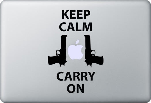 Sticker MacBook KEEP CALM AND CARRY ON