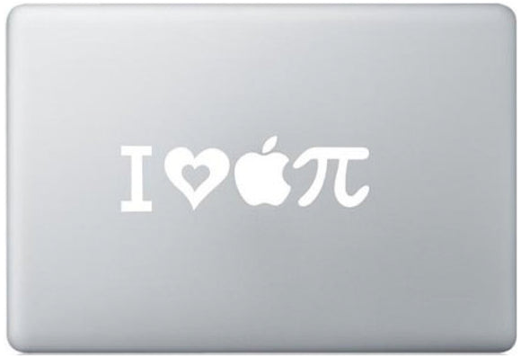 Sticker MacBook I LOVE PI